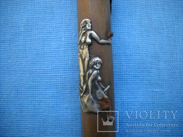 Палочка или указка с накладками из серебра 84 пробы, фото №11