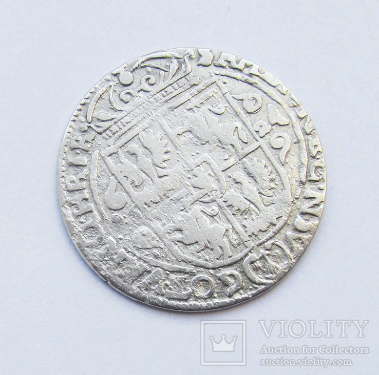 Орт 1624 г коронный, Сигизмунд III , г Быдгощь, фото №3