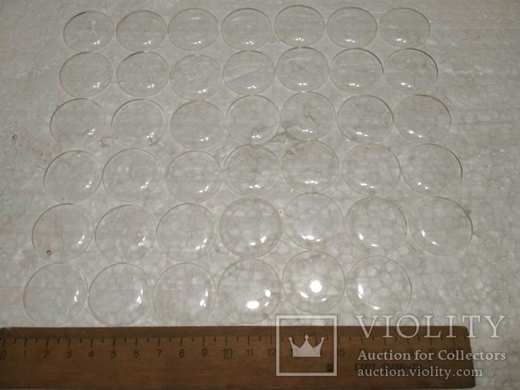 Стекла Заря пластиковые, выпуклые, новые, 41 шт., диаметр на фото № 4, фото №2