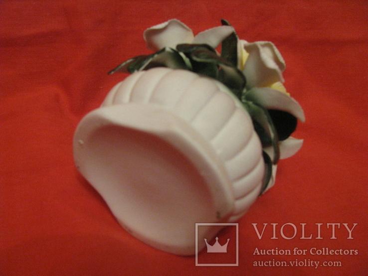Статуэтка - Букет орхидей в вазе - фарфор., фото №5