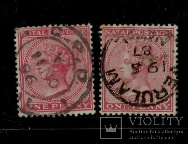 Наталь 1874 різний колір колонія Британії
