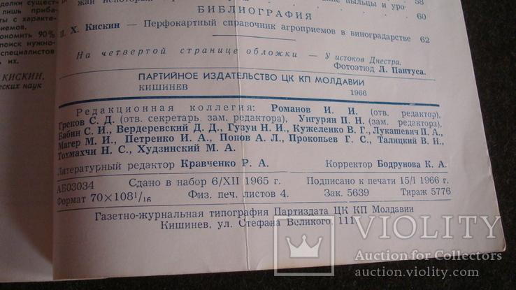 Садоводство, виноградарство и виноделие Молдавии 1/1966, фото №5