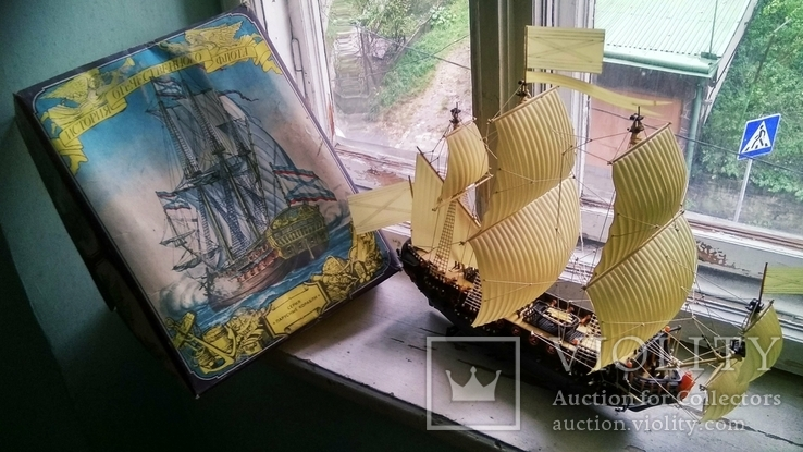 Макет, копія першого лінійного корабля Петра 1, фото №5