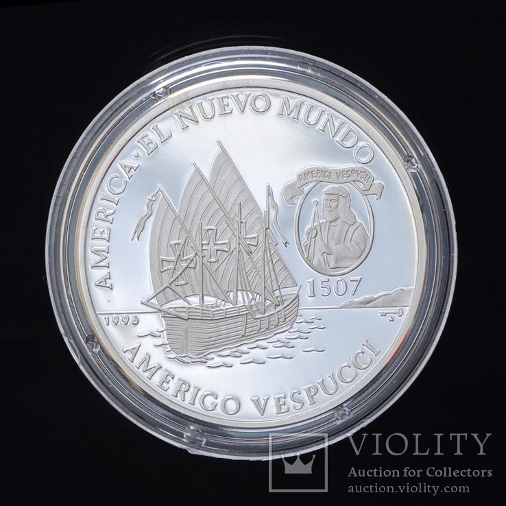 10 Песо 1996 Парусник Америго Веспуччи, Куба, фото №2