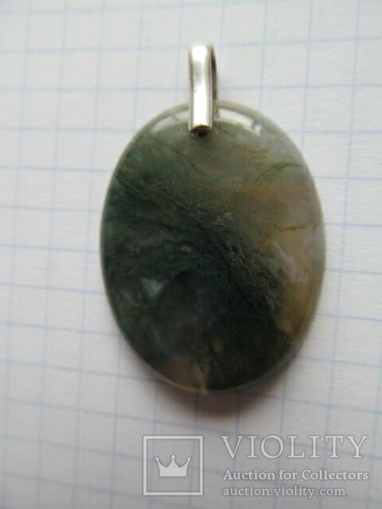 Кулон агат. Серебро, фото №3