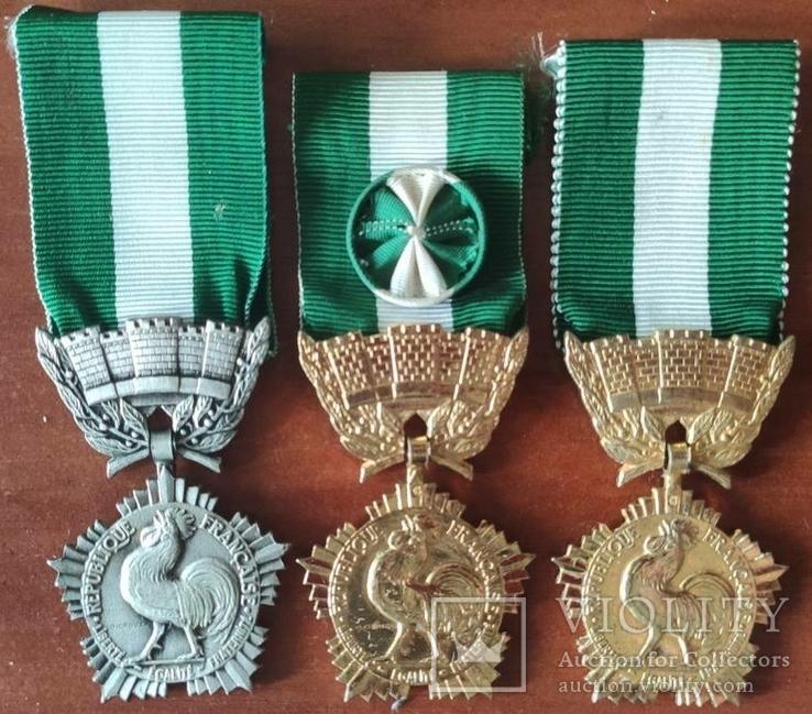 Франция, Комплект медалей за выслугу комунального хозяйства, фото №2