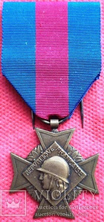 Франция, Крест Добровольцев - за боевые заслуги, фото №4