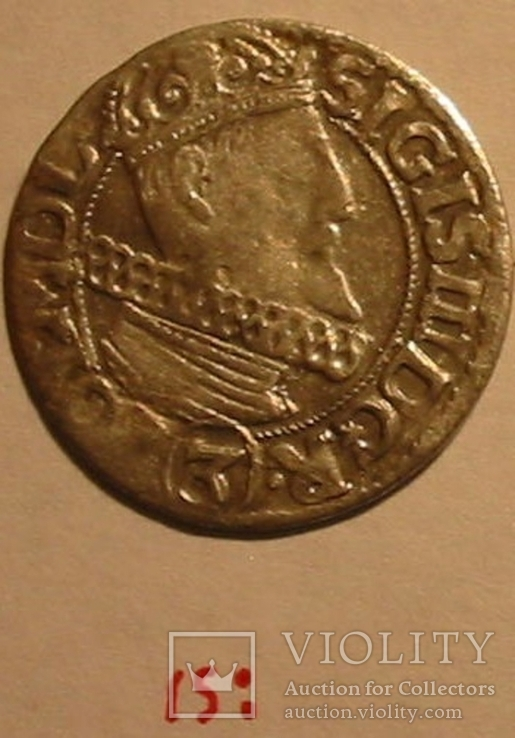 1615: ,  3 Крейцера Сигизмунд III Ваза (две точки), фото №3