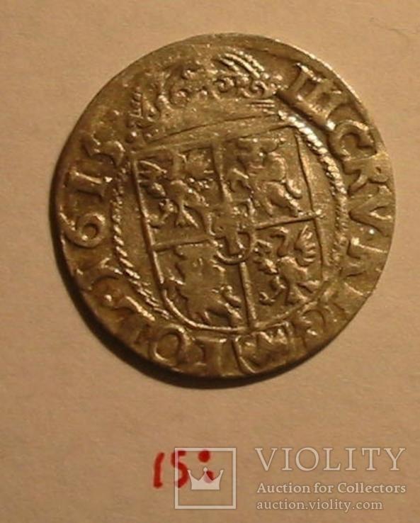 1615: ,  3 Крейцера Сигизмунд III Ваза (две точки), фото №4