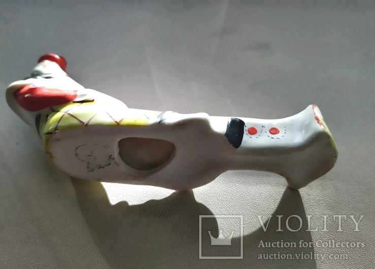 Клоун подставка фарфор Барановка, фото №3