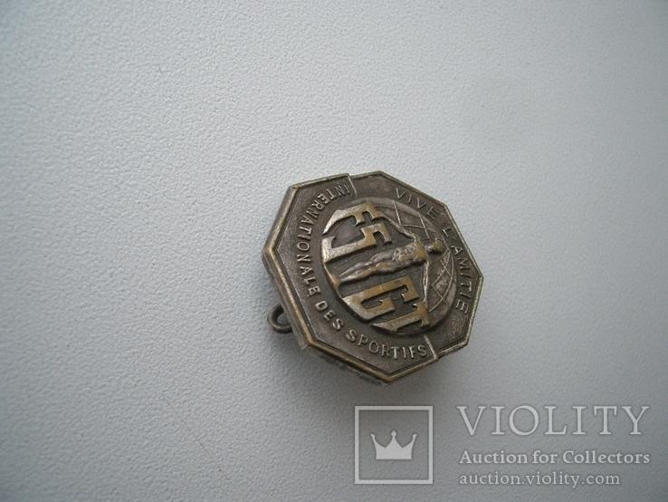 Значок спорт испано-язычный текст 20х20 мм, фото №3