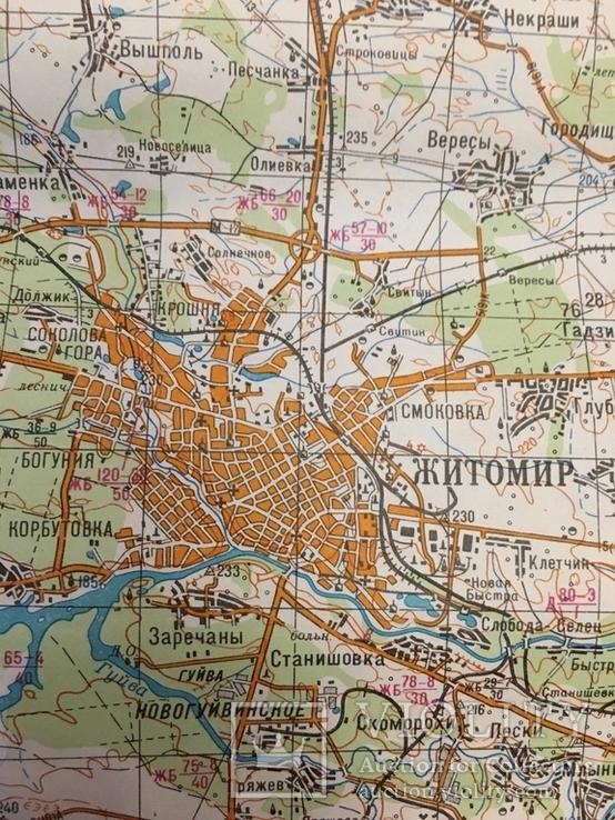 Карта Генерального штаба ВС СССР. Житомир., фото №6