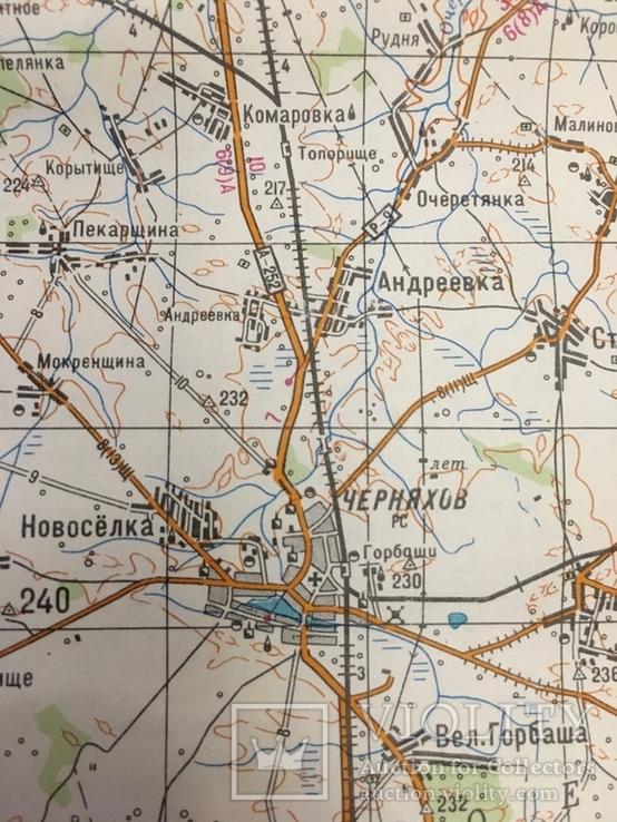 Карта Генерального штаба ВС СССР. Житомир., фото №8