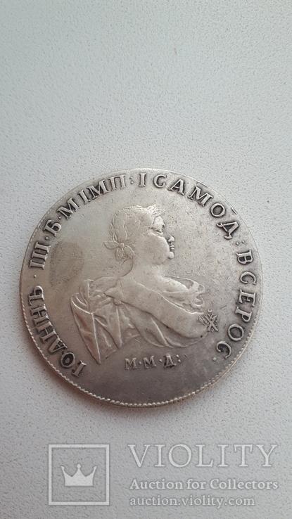 1 рубль 1741 года,отличная Копия в серебре, фото №2