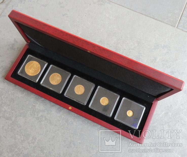 США 10 монет золото 1$  2,5$  5$  10$  20$, фото №4