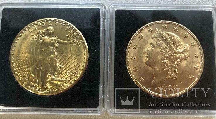 США 10 монет золото 1$  2,5$  5$  10$  20$, фото №5