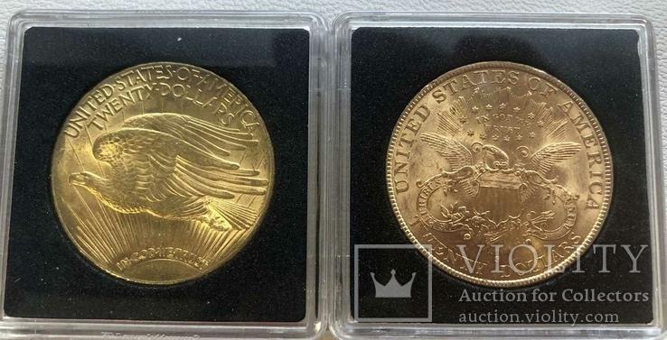 США 10 монет золото 1$  2,5$  5$  10$  20$, фото №6