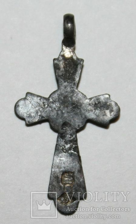 Серебрянный нательный крестик 84 проба (Н.Г) 0,6 грамма, фото №3