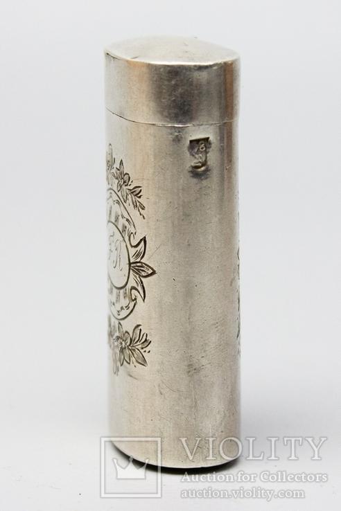 Серебрянная спичечница 84 проба 1875 года (E.L-И.С) 19,3 грамма, фото №3