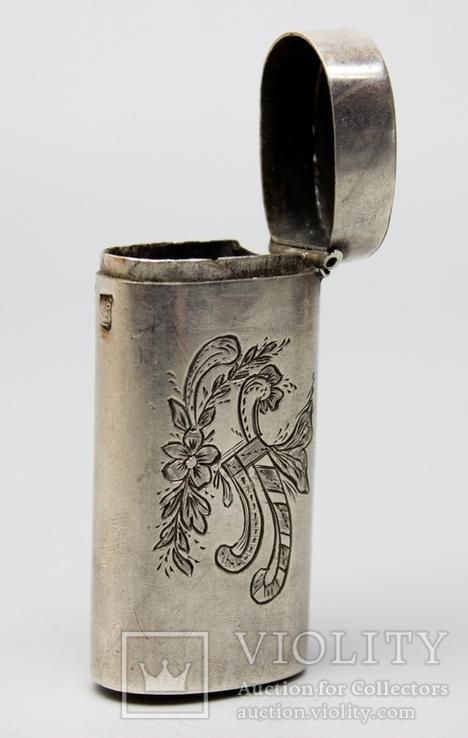 Серебрянная спичечница 84 проба 1875 года (E.L-И.С) 19,3 грамма, фото №7