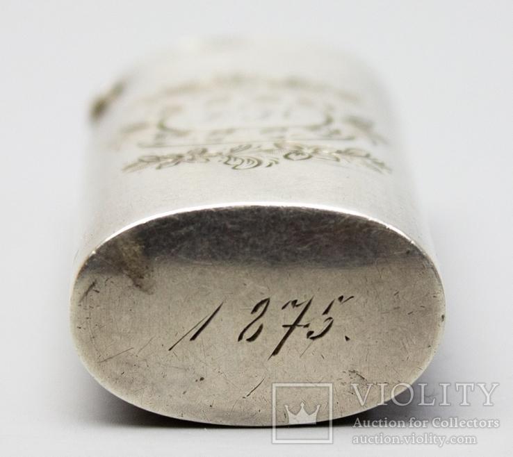 Серебрянная спичечница 84 проба 1875 года (E.L-И.С) 19,3 грамма, фото №10