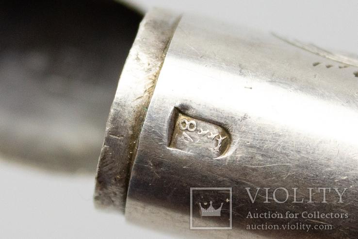 Серебрянная спичечница 84 проба 1875 года (E.L-И.С) 19,3 грамма, фото №13