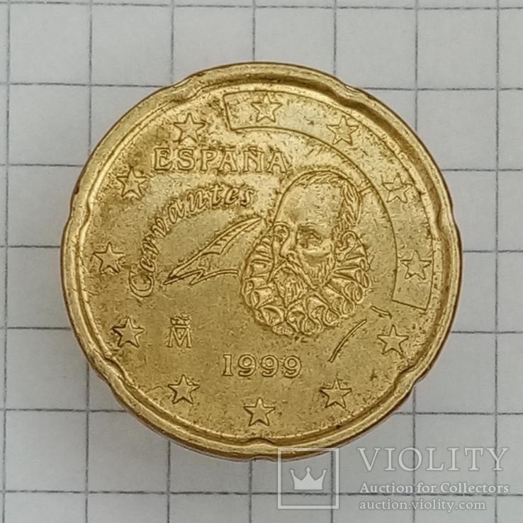 20 евроцентов 1999г Испания, фото №2