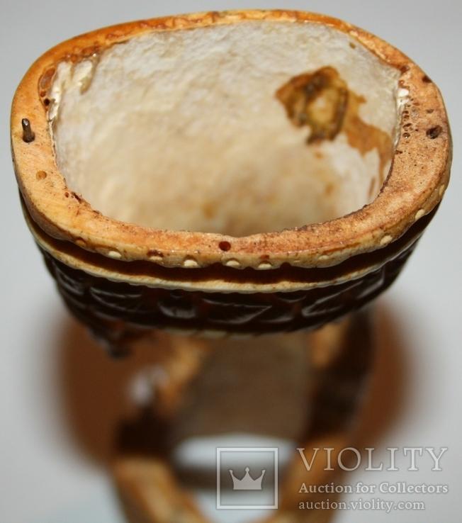 Карандашница из кости (природный орнамент), фото №6