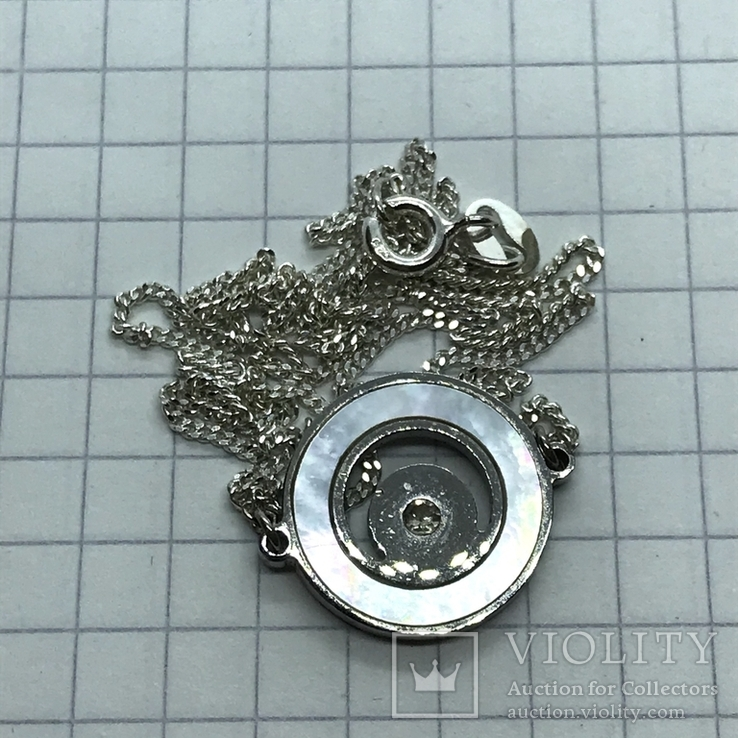 Колье серебро с вставкой металла, фото №4