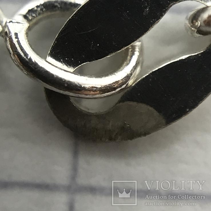 Колье серебро с вставкой металла, фото №7