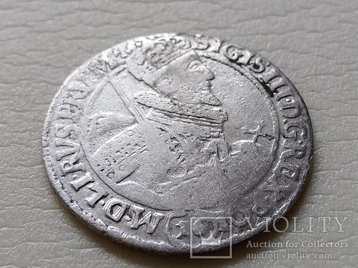 Коронный Орт 1621 год. Быгдощ. 16 год под портретом Сигизмунда III (№5)., фото №3