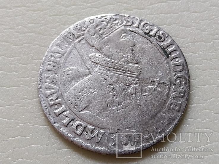 Коронный Орт 1621 год. Быгдощ. 16 год под портретом Сигизмунда III (№5)., фото №2