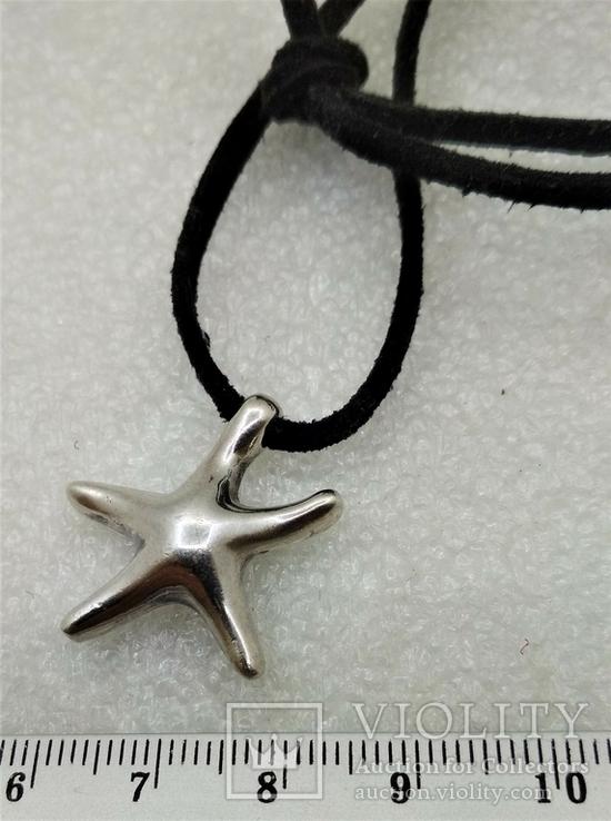 Подвеска Морская Звезда серебро 925, фото №3