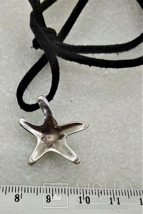 Подвеска Морская Звезда серебро 925, фото №4