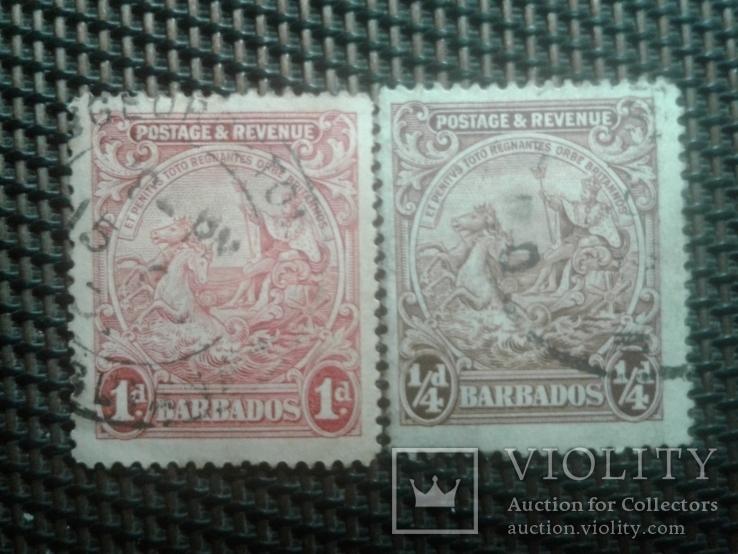 Марки 1925года ,Барбадос