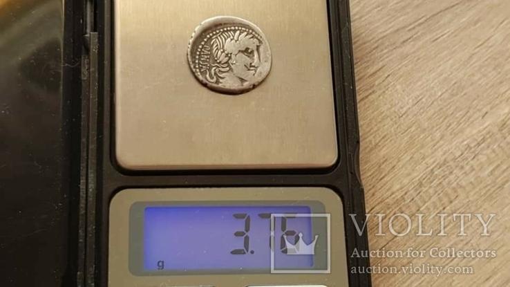 90 год до н. э. Монетарий - C. Vibio Pansa, фото №3