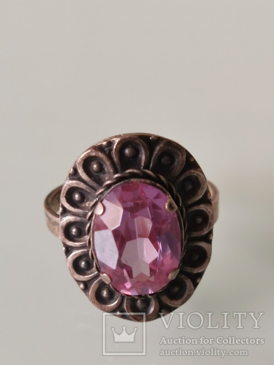 Кольцо с аметистом, фото №2