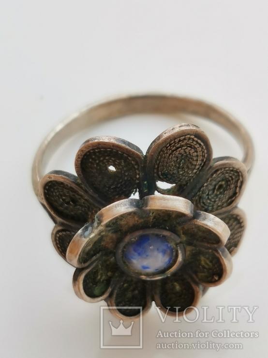 Кольцо, Лазурит, фото №2