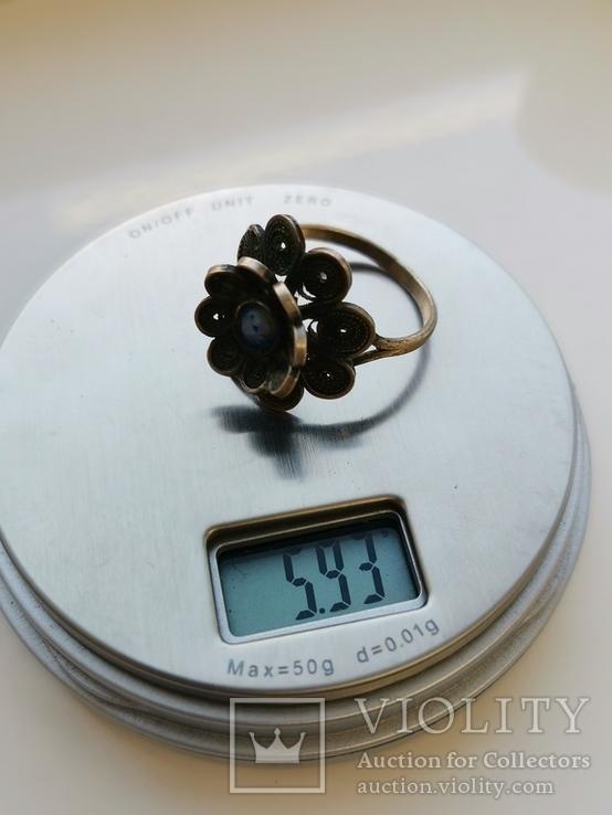 Кольцо, Лазурит, фото №3
