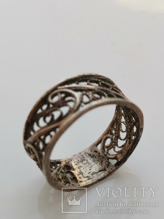 Кольцо, серебро, фото №2