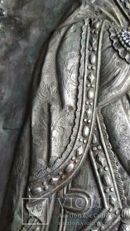 Икона Св. Николай. Оклад серебро., фото №7