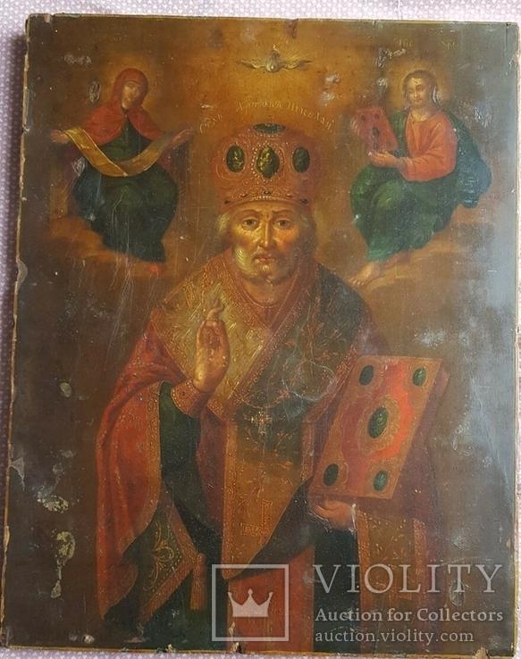Икона Св. Николай. Оклад серебро., фото №9