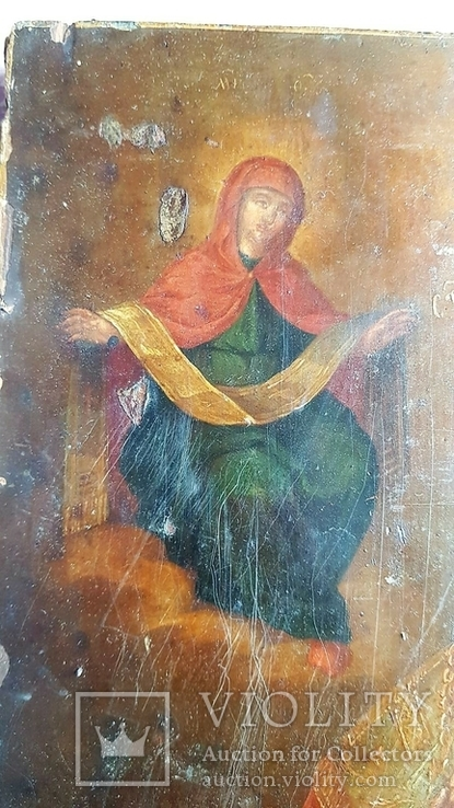 Икона Св. Николай. Оклад серебро., фото №11