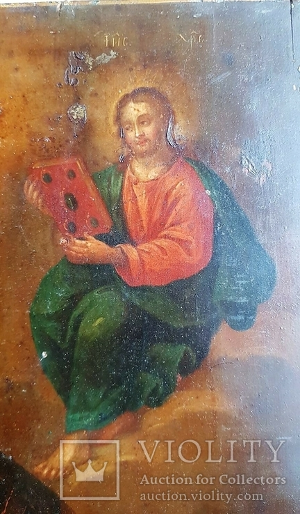 Икона Св. Николай. Оклад серебро., фото №12