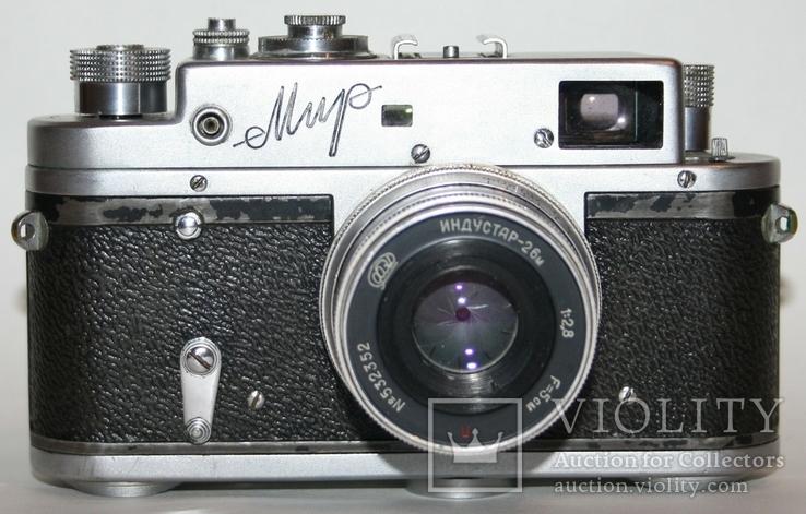 """Фотоаппарат """"Мир"""" с объективом Индустар-26М (1:2,8 f=5см), фото №2"""