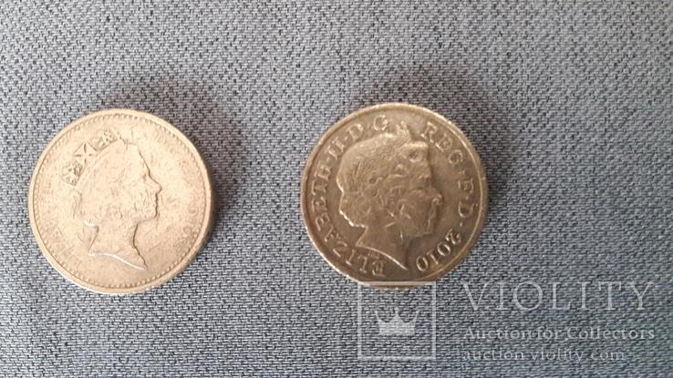 Подборка - 1 фунт 1985, 2008, 2010. Великобритания., фото №6