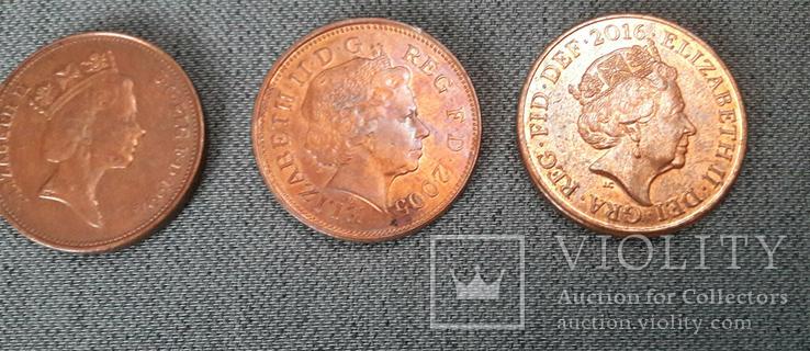 Подборка - 2 Пенсов 1971, 1994, 2005, 2016. Великобритания., фото №4