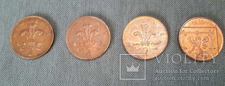 Подборка - 2 Пенсов 1971, 1994, 2005, 2016. Великобритания., фото №5
