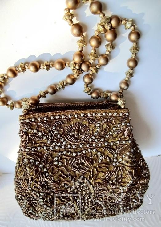 Миниатюрная женская сумка с короткими ручками, фото №2