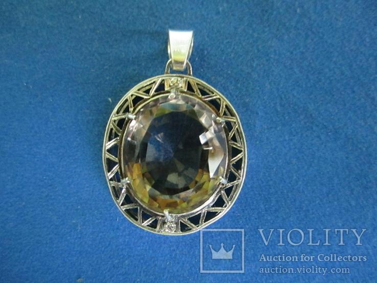 Кулон серебро и камень., фото №2